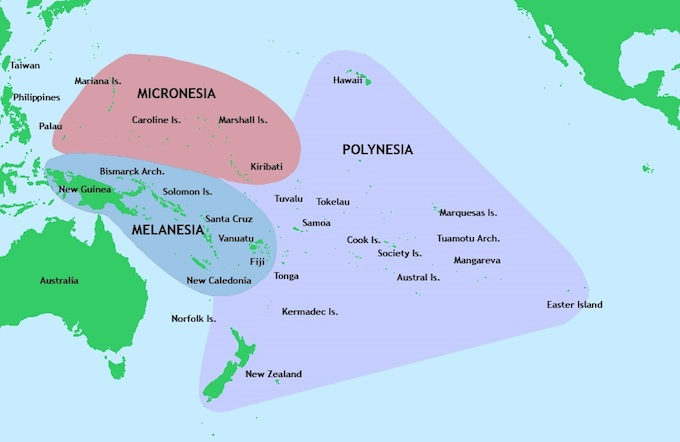 "Oceania covered larger areas than was ""possible under the term Pacific Islands region,"" forming a ""world of social networks that crisscross the ocean, all the way from Australia and New Zealand in the southwest, to the United States and Canada in the northeast""."