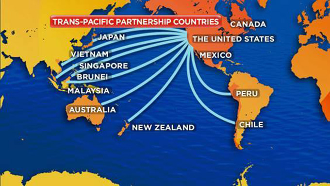 Member countries of the Trans Pacific Partnership Agreement.