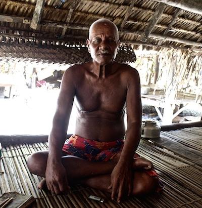 Takirua Tiare ... a traditional storyteller on Marakei. Image: Janice Cantieri