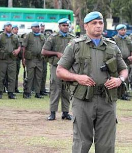 Fiji peacekeeping troops on parade. Image: Fijilive.com