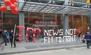 The New York Times protest, Image: Public Spaces Party