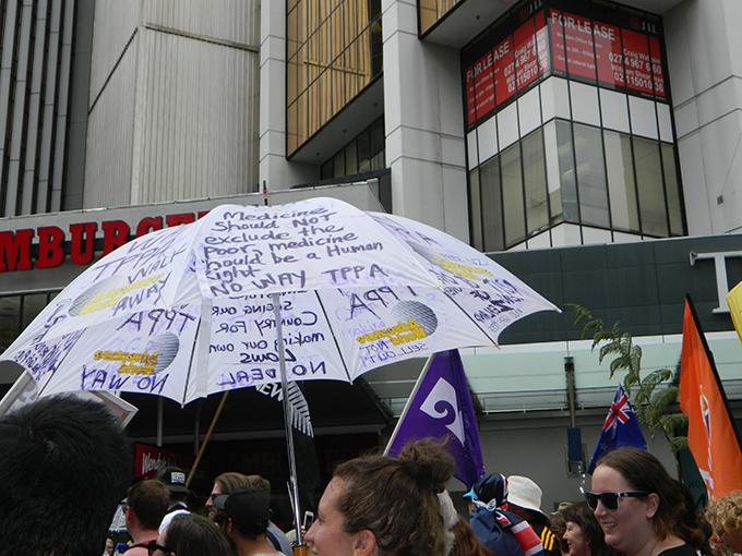 Poster umbrella. Image: Del Abcede/PMC