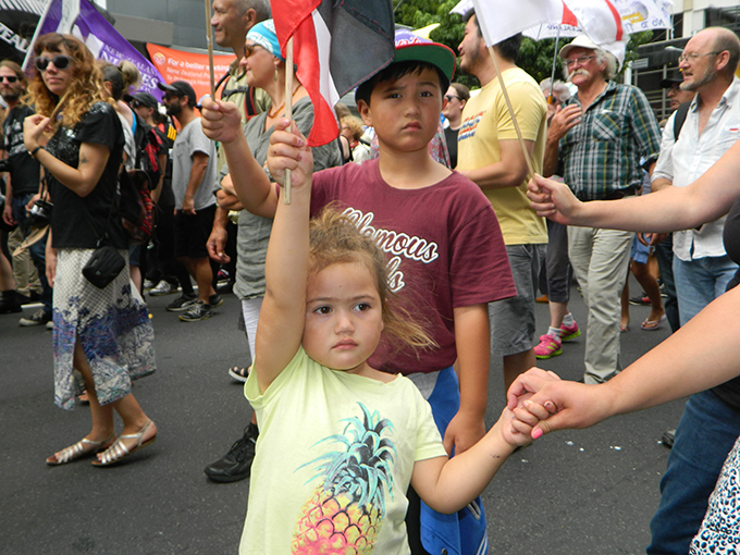 "Many children too part in the TPPA - ""our future"". Image: Del Abcede/PMC"