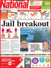 Yesterday's edition of the National in Papua New Guinea. Image: The National