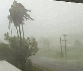 Cyclone Winston hits Fiji's largest island of Vanua Levu. Image: FBC