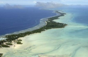 Tarawa atoll ... the most populated part of Kiribati. Image: Britannica