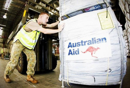 Australian aid being delivered to Fiji yesterday. Image: Newswire