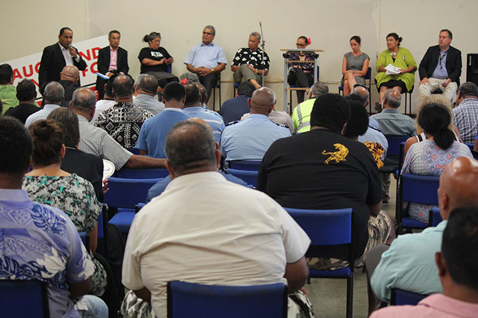 Part of the crowd at the Fiji community meeting in Mangere last night. Image: TJ Aumua/PMC