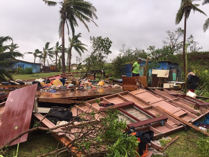 A flattened family home in Ba today. Image: Naziah Ali/PMC