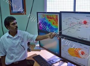 Tropical Cyclone Winston is intensifying and bearing down on Fiji, says Fiji Meteorological Service director Ravind Kumar. Image: Baljeet Singh/Fiji Times