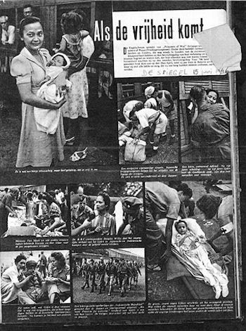 "In pictures: Images published in De Spiegel magazine, with the In pictures: Images published in De Spiegel magazine, with the title ""When freedom arrives"", June 15, 1946.(Courtesy of the Dutch Resistance Museum)"
