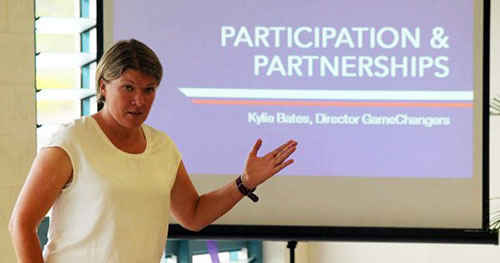 GameChanger director Kylie Bates, one of the conference resource people. Image: Samoa Observer