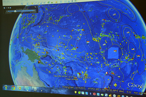 A snapshot of vessel monitoring in the world's largest tuna fishery. Image: Lisa Williams-Lahari/FFA