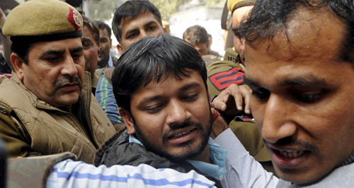 "Kanhaiya Kumar ... arrested for ""sedition"". Image: TheWeek.in"