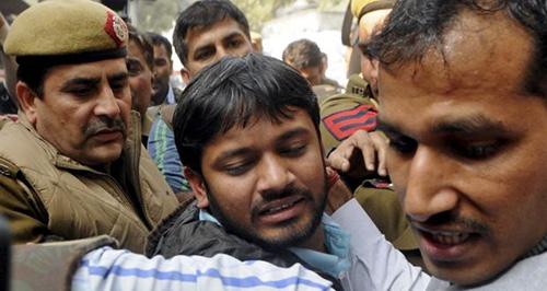"Kanhaiya Kumar ... arrested for ""sedition"". Image: TheWeek.in"