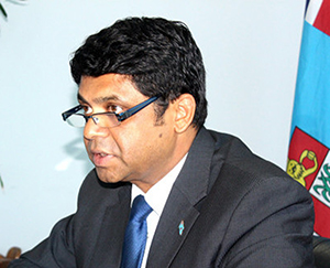Communications Minister Aiyaz Sayed-Khaiyum ... safeguards. Image: Peni Shute Newswire