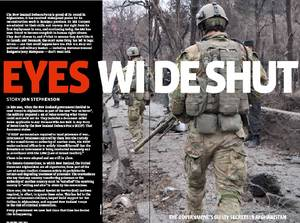 "Jon Stephenson's expose article ""Eyes Wide Shut"" in Metro Magazine, May 2011."