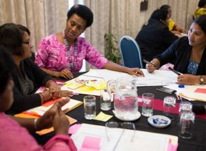 Women meeting in Suva as part of Femlink's first National Women's Human Security Consultation. Image: Jeff Tan/Action Aid