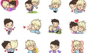 A collection of gay emojis that were made unavailable in Indonesia.