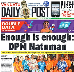 Today's Vanuatu Daily Post.