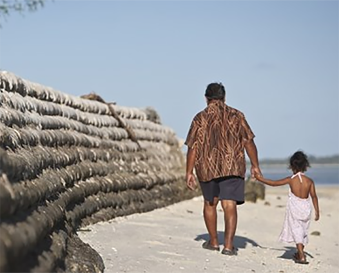 """We will see mass migration from Pacific Island nations"", says Professor James Renwick. Image: Supplied (Oxfam)"