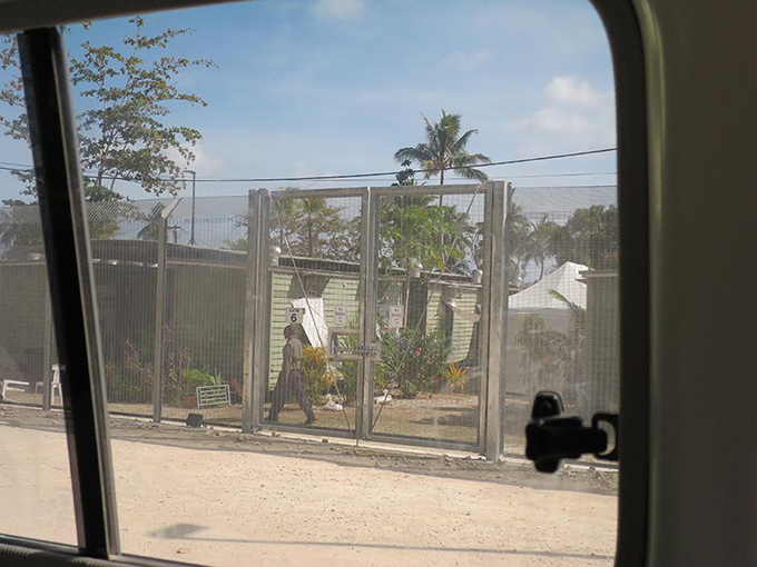 The asylum seeker detention center at Lombrum naval base, Manus Island, Papua New Guinea. Image: Human Rights Watch