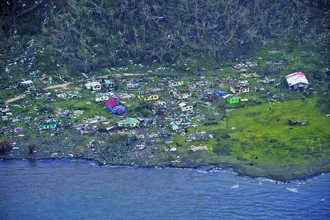 Flashback to TC Winston: The destruction at Koro Mudu after the cyclone. Image: Business Melanesia/DINFO