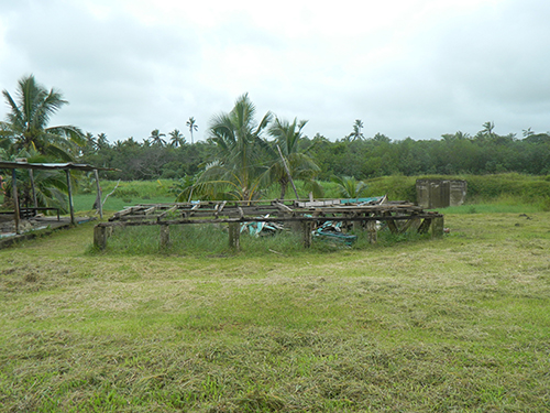 A flattened house in Daku. Until Super Cyclone Winston, a family of eight people lived here. Image: Ami Dhabuwala/PMC