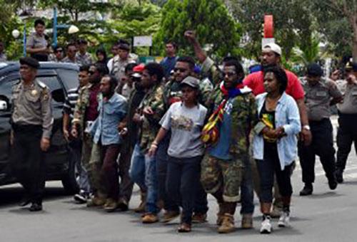 The rally in Jayapura yesterday. Image: Suara Papua