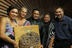 TJ Aumua with her family at the awards. Image: Del Abcede/PMC