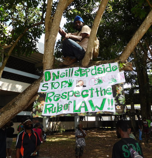 UPNG Tree Protest