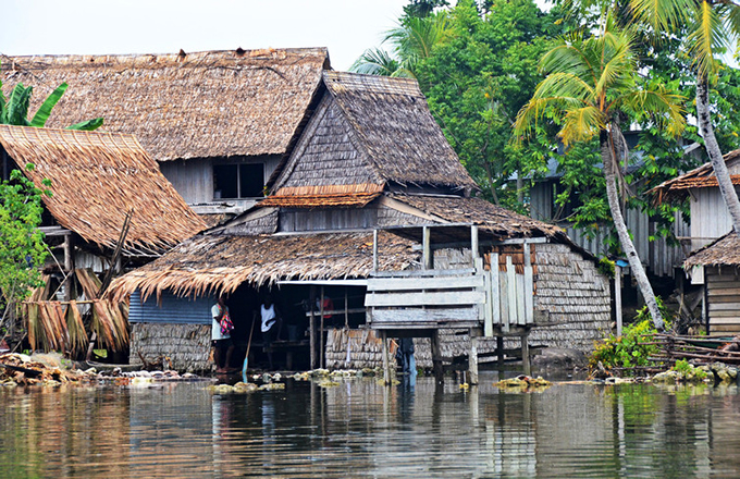 Many homes are close to sea level on the Solomons. Simon Albert, Author provided