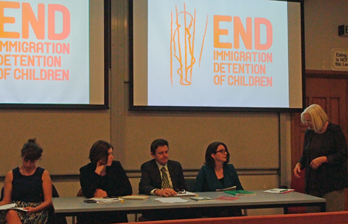 'Seeking alternatives for Refugees: Ending child detention in Asia-Pacific' panel. Photo / Jihee Junn
