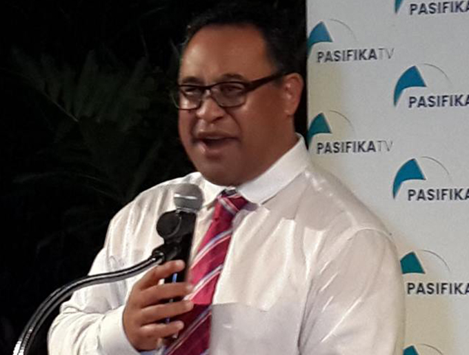 High Commissioner Tony Fautua ... introducing fresh television content from NZ. Image: NBC News/PNG Today