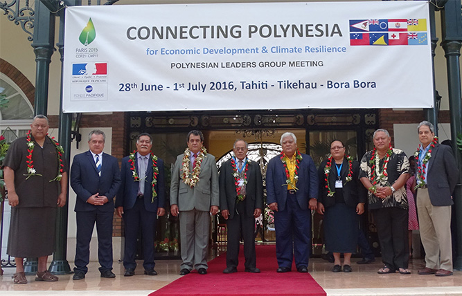 Polynesian leaders group gathers in Tahiti for climate