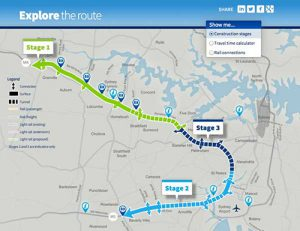 The WestConnex interactive map - click on the image.