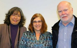 Journal editors that were present at the panel (from left): Louisa Ha (Journalism and Mass Communication Quarterly), Professor Linda Steiner (Journalism & Communication Monographs) and panel chair Ian Richards (Australian Journalism Review). Image: Del Abcede/PMC