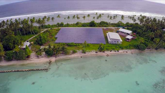 The documentary was produced for German TV in September 2015 where it was well received by European audiences. Image: Solar Nation of Tokelau