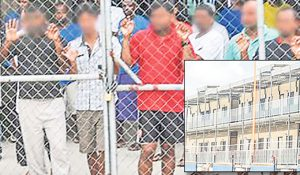 Asylum seekers in the Manus Island detention centre, Papua New Guinea. Image: The National