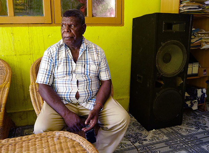 Chief of the Kamoro people, Hironimus Urmani, in Tipuka, close to the Grasberg mine. Image: Susan Schulman/The Guardian