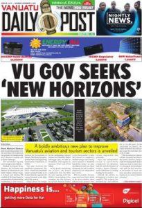Today's Vanuatu Daily Post.