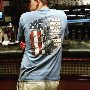 A US gun culture T-shirt. Image: David Robie