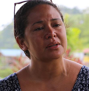 "Michelle Hau'ofa … ""Dad was as strong as a lion until the very end."" Image: Loop PNG"