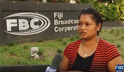 FBC's Praneeta Prakash … stone thrown at her, verbally abused. Image: FBC
