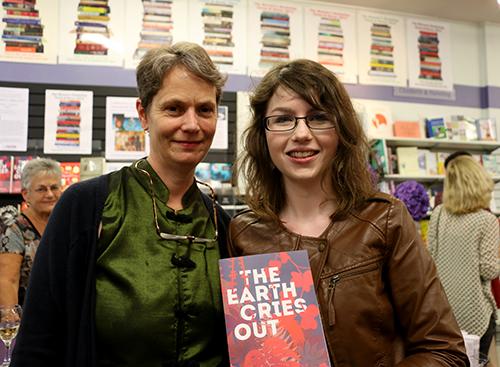 Penguin fiction publisher Harriet Allan (left) with author Bonnie Etherington. Image: Del Abcede/PMC