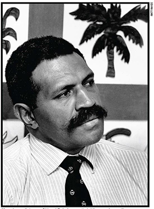 Lieutenant-Colonel Sitiveni Rabuka 30 years ago … he staged Fiji's first two coups. Image: Matthew McKee/Pacific Journalism Review