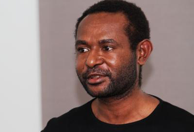 "Martyn Namorong … ""Papua New Guinean atheist, activist, antagonist"". Image: CCSC"