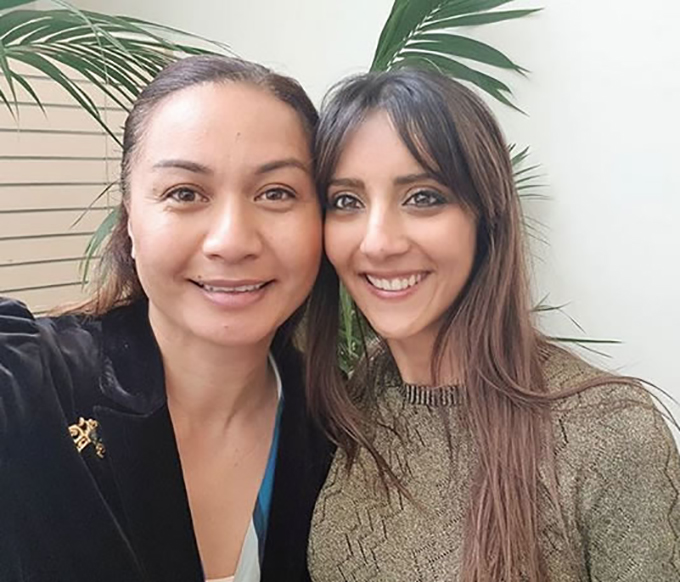 Meet Golriz Ghahraman, the Green Party's newest Member of Parliament with fellow MP Marama Davidson. Image Marama Davidson  Instagram