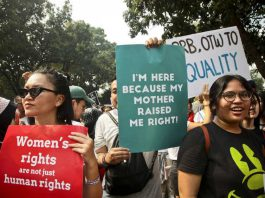 A woman's rights rally in Jakarta last week. Image: Yudha Baskoro/Jakarta Globe