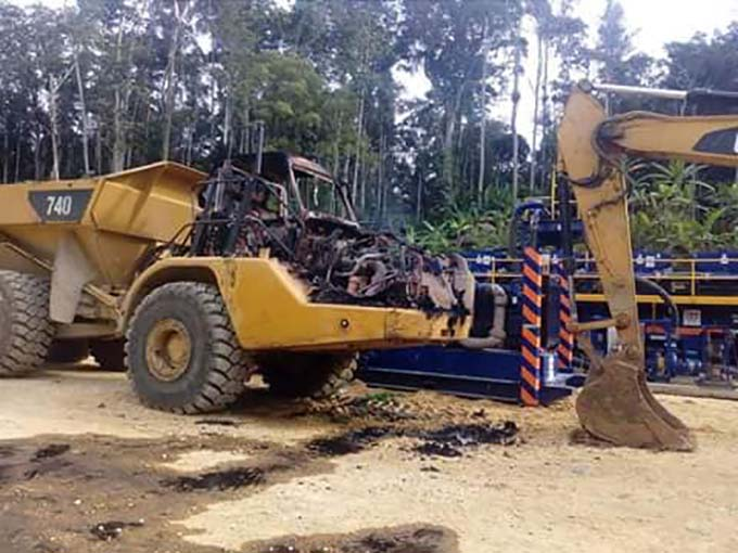Angore landowners set LNG machinery on fire in more PNG